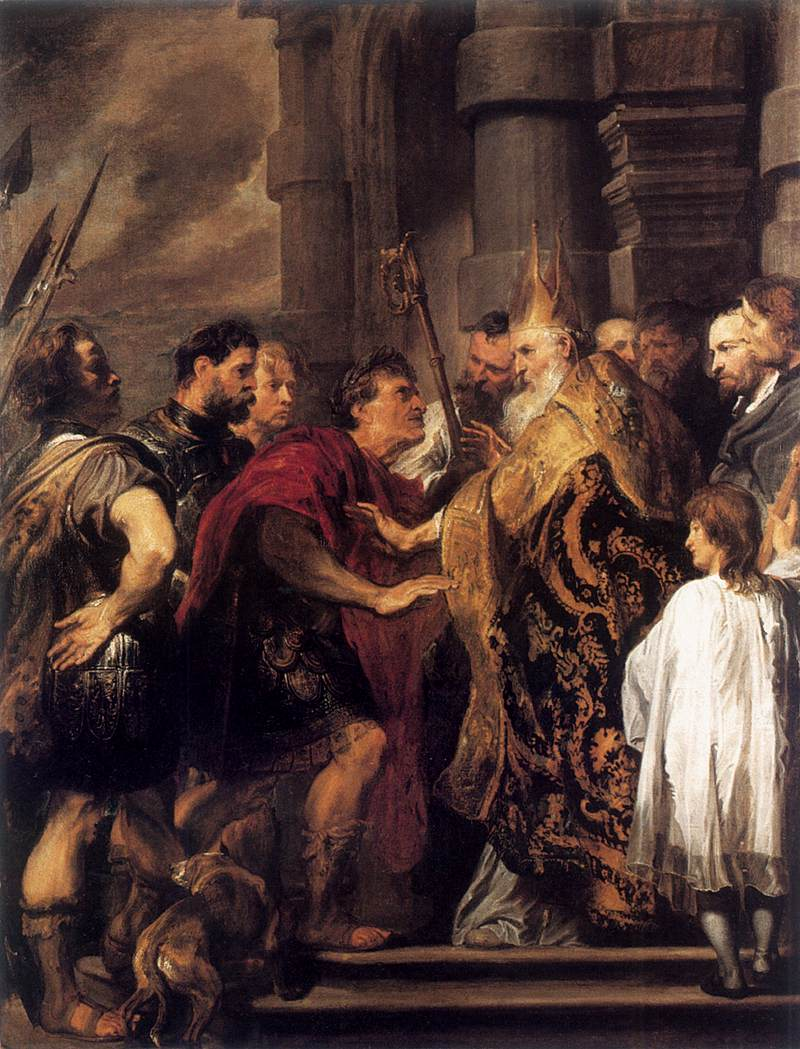 Anthony_van_Dyck_-_Emperor_Theodosius_Forbidden_by_St_Ambrose_To_Enter_Milan_Cathedral_-_WGA07437