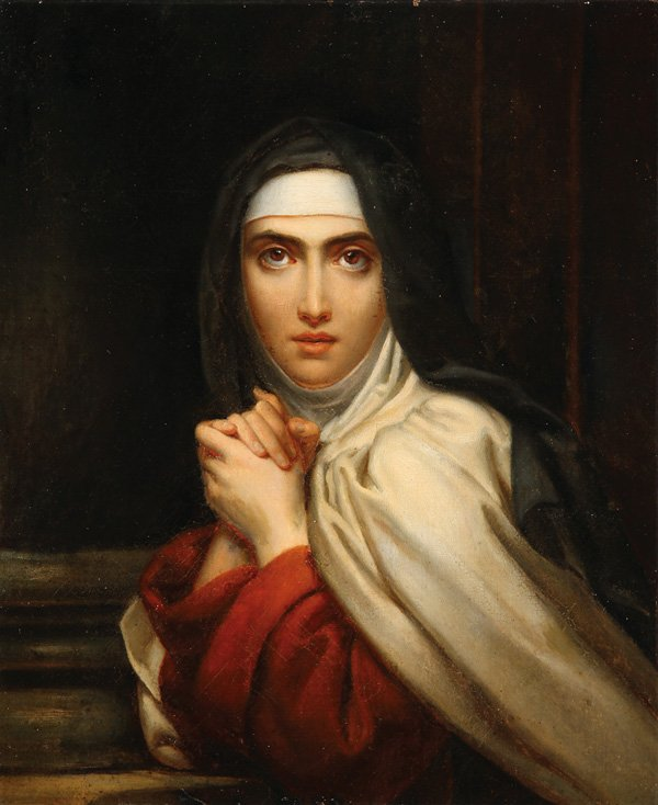 """François Gérard - St Theresa (detail)"" by François Gérard - http://wdtprs.com/blog/2015/03/happy-birthday-st-teresa-of-avila/ – image. Licensed under Public Domain via Wikimedia Commons - https://commons.wikimedia.org/wiki/File:Fran%C3%A7ois_G%C3%A9rard_-_St_Theresa_(detail).jpg#/media/File:Fran%C3%A7ois_G%C3%A9rard_-_St_Theresa_(detail).jpg"